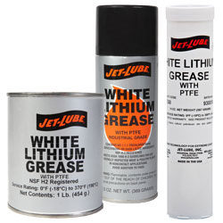 Jet Lube White Lithium Grease All-Purpose Grease with PTFE